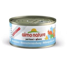Nourriture pour chat Almo en boite de 70gr avec un mélange de la mer